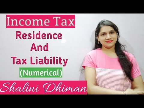 #6 Residence and Tax Liability (In Hindi) |Income Tax || Boost Your Education ||