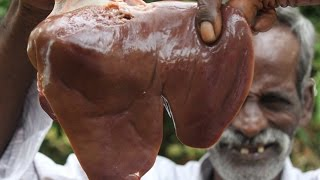 Mutton Liver Prepared by My DADDY in my village / VILLAGE FOOD FACTORY