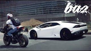 Phản Ứng Của Biker Khi Gặp Lamborghini Huracan | BAZ Channel