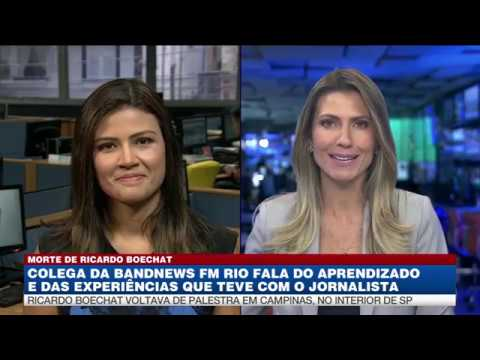 Thaís Dias relembra histórias marcantes de Boechat