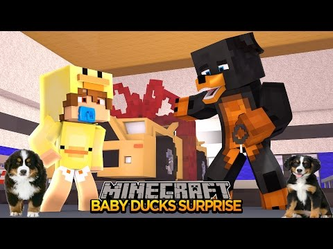 Minecraft - Donut the Dog Adventures -DONUT & BABY DUCK ARE NEW BEST FRIENDS????