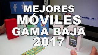 TOP 5 MEJORES MÓVILES 2017 al 2018 | Celulares gama Baja Moto C Español