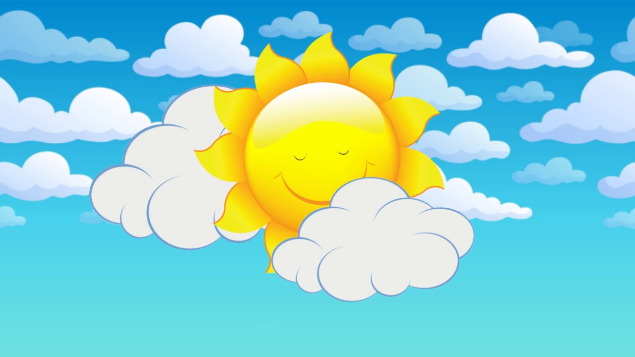 рисунок небо с облаками и солнцем впрочем