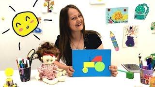 Аппликация для детей ТРАКТОР. Поделки из бумаги