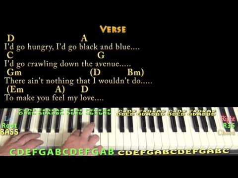 6.7 MB) Make You Feel My Love Chords Piano - Free Download MP3