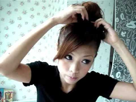 Japanese Hair Bun Tutorial Youtube