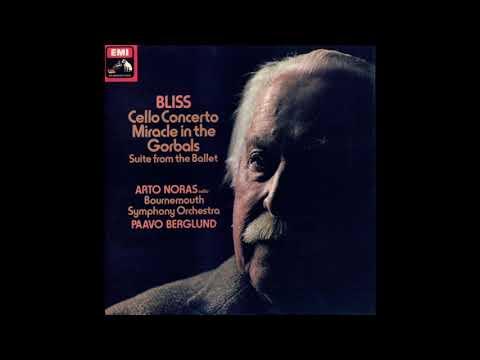 Bliss Cello Concerto / Arto Noras / Bournemouth Symphony Orchestra, Paavo Berglund (ASD 3342) 1977