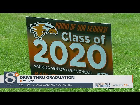 Drive-thru graduation planned for Winona Senior High School students