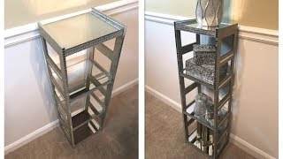 Dollar Tree DIY || 💕 Gold Mirrored Display Shelf || Glam Edition 💕