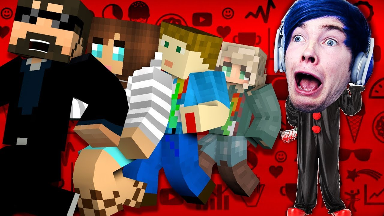 Minecraft GAMING YOUTUBER MURDER MODDED MINI GAME