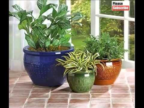 Ceramic Flower Pots Picture Set Beautiful Decorative