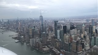 Cessna 172 Skyhawk New York City Skyline Route Out of Westchester [HPN] (4/2/19)