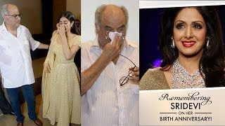 Jhanvi Kapoor Breaks Down With Boney Kapoor At Sridevi's First Birthday Party After PASSING AWAY