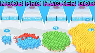 NOOB VS PRO VS HACKER VS GOD  in  Count Master:Crowd Clash & Stickman Running Game screenshot 1