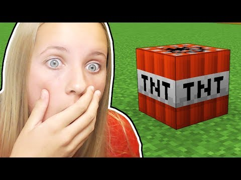 PLAYING MINECRAFT TNT WITH MY SISTER...