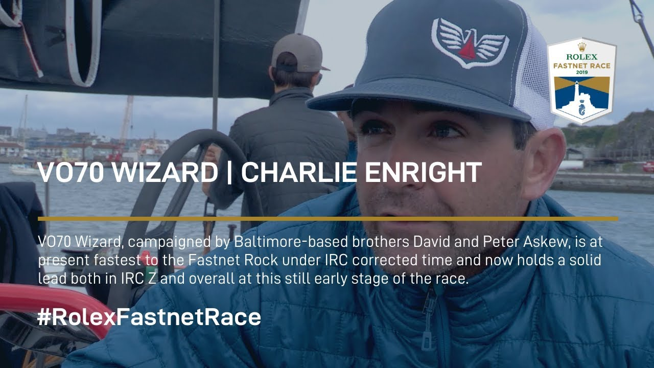 Charlie Enright VO70 Wizard | Rolex Fastnet Race
