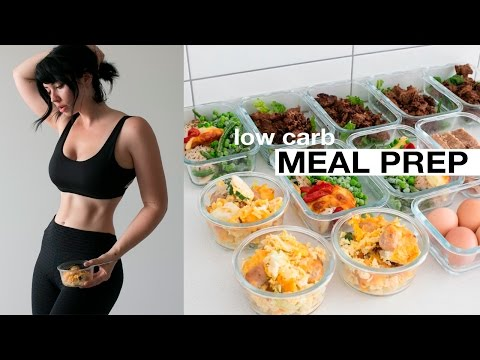MEAL PREP WITH ME: Low Carb Mains, Breakfast + Snack // Rachel Aust