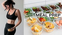 MEAL PREP WITH ME: Low Carb - Mains, Breakfast + Snack // Rachel Aust