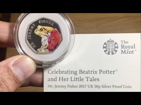JEREMY FISHER SILVER PROOF 50p || UNPACKAGING/UNBOXING 2017 (ROYAL MINT)
