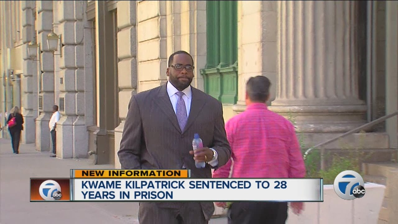Kwame Kilpatrick sentenced to 28 years in prison - YouTube