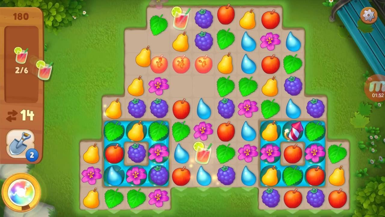 Как пройти 52 уровень в игре gardenscapes