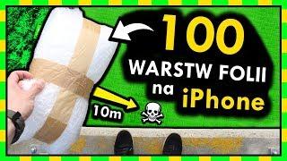 100 WARST FOLII BĄBELKOWEJ na iPhone VS UPADEK Z WYSOKOŚCI... [*]?
