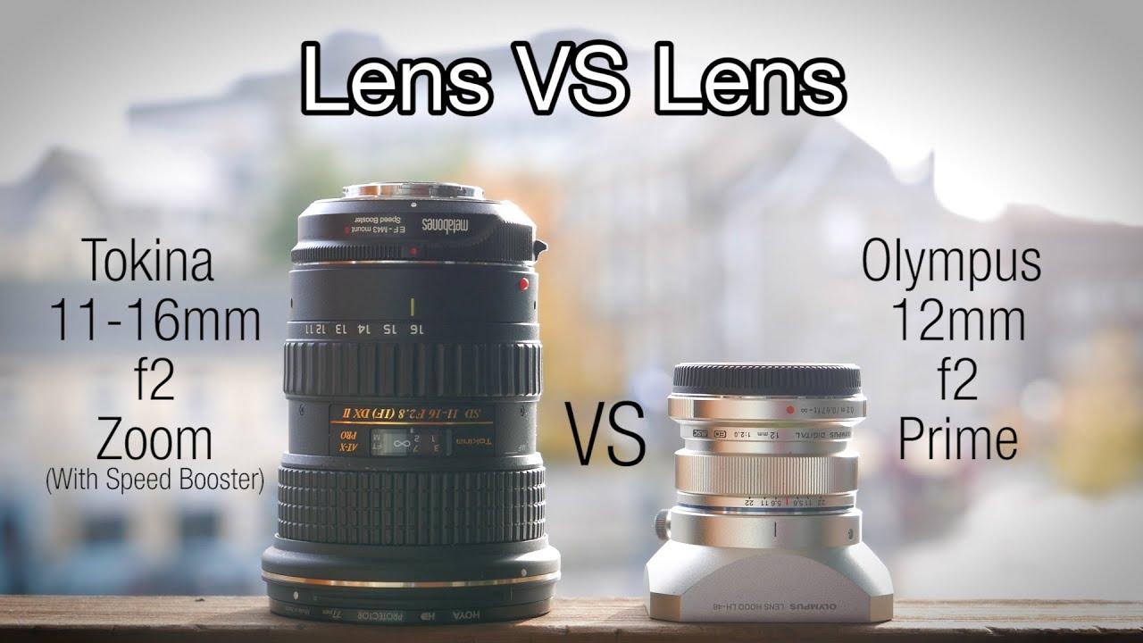 Olympus 12mm f2 vs Tokina 11-16mm f2.8 + Speedbooster S - YouTube