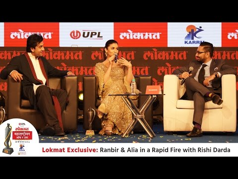 Ranbir Kapoor & Alia Bhatt pick SRK as the Railway Minister in a rapid fire with Rishi Darda