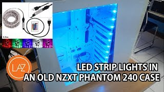 1.8K NZXT PHANTOM 240  LED STRIP LIGHT REVIEW AND INSTALLATION