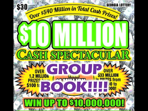 GA Lottery Full Book $30 Cash Spectacular (Group Buy)
