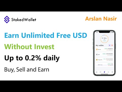StakedWallet.io | Earn Free Usd 2020 Live Proof | Earn unlimited Btc without investment Urdu Hindi