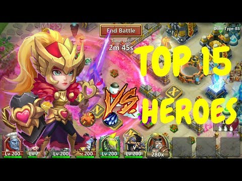 Rosaleen VS TOP 15 Heroes L Castle Clash