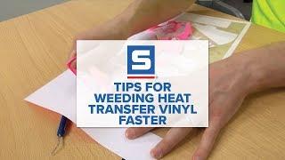 Tips for Weeding Heat Transfer Vinyl Faster