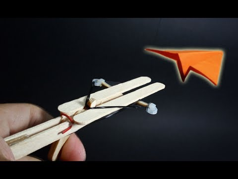 How To Make A Paper Airplane Launcher Diy Mini Popsicle