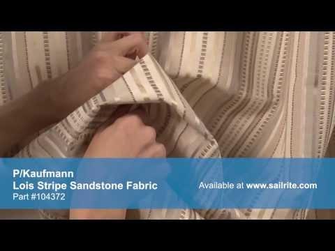 video-of-p/kaufmann-lois-stripe-sandstone-fabric-#104372