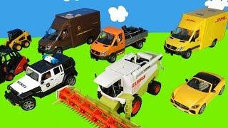 Gabelstapler, DHL Paketauto, Abschleppwagen, Bagger, Traktor   Spielzeugautos für Kinder