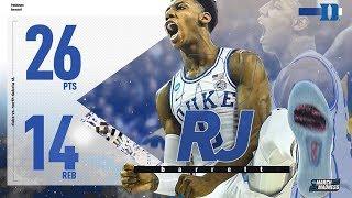 R.J. Barrett's monster 26 point-game in Duke's NCAA tournament first-round win