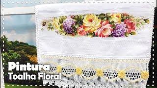 PINTURA DE FLORES EM TOALHA com Roberta Moreira