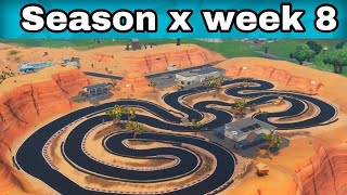 fortnite season 7 x-4 Complete a lap of a race track ||fortnite season x week 8 fortnite season 4 xbox Complete a lap of a race track ||fortnite season x week 8 ...
