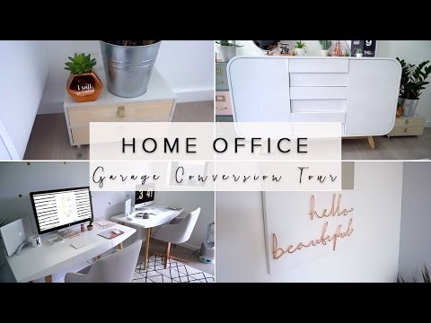 OUR MINIMALISM HOME OFFICE/GARAGE CONVERSION TOUR: COPPER AND GREY OFFICE