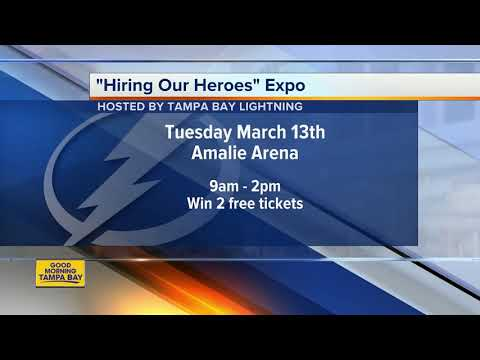 Tampa Bay Lightning hosting 'Hiring Our Heroes' job fair expo at Amalie Arena on Tuesday