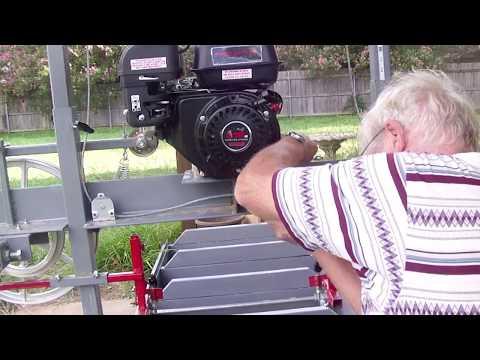Portable DIY sawmill build