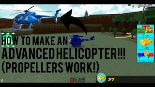 Roblox - Build a Boat for Treasure: HOW TO MAKE A *WORKING* ADVANCED HELICOPTER!!!