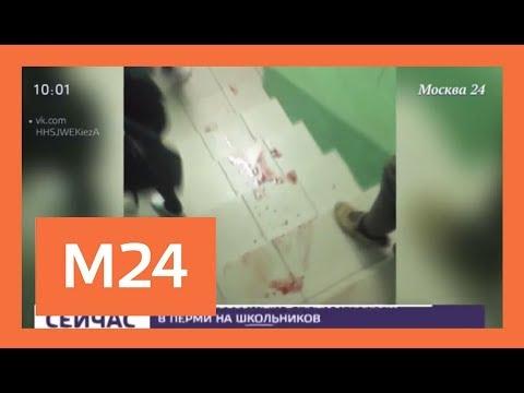 Восемь учеников и учитель пострадали в результате нападения на школу в Перми