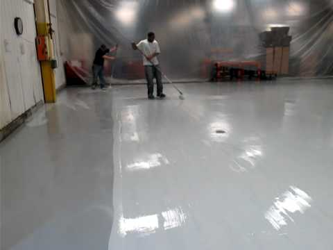 Installation Of 100 Solids Epoxy Topcoat By Vanguard