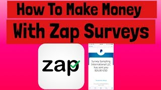 HOW TO MAKE MONEY WITH Zap Surveys 2018