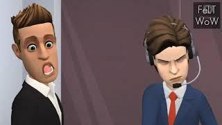 What happens when FBI Officer's wife betray her husband | FBI Comedy | Cartoon Jokes Clip | FeLT WoW