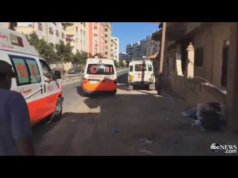 Israel And Palestine conflict 2014 -In Gaza, Racing To The Hospital With Ambulance Crews