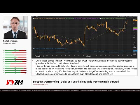 Forex News: 28/06/2018 - Dollar at 1-year high as trade worries remain elevated