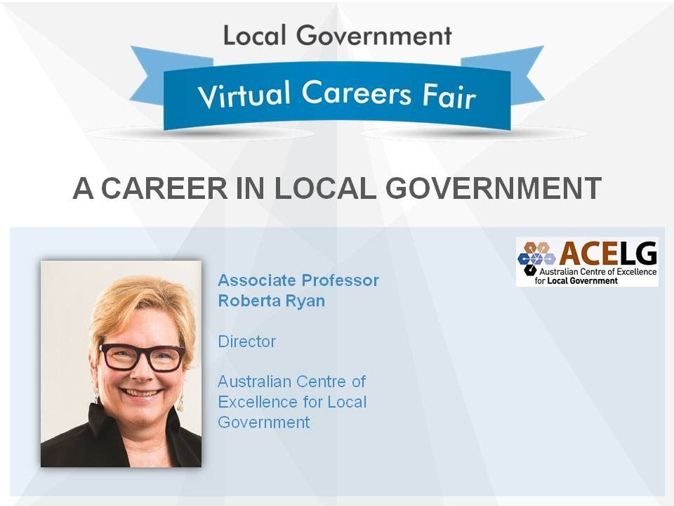 Download Careers Fair Virtual Conference: A Career in Local Government